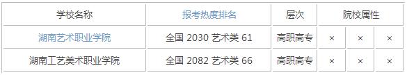 2015年湖南艺术类大学排名