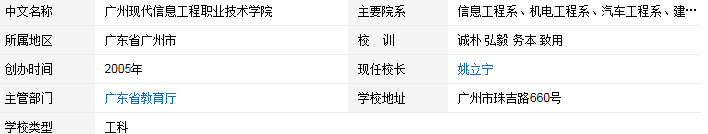 广州现代信息工程职业技术学院介绍