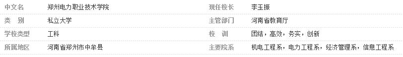 郑州电力职业技术学院介绍