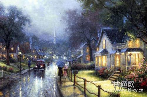 描写夜晚下雨的句子 只见北海怒涛翻滚