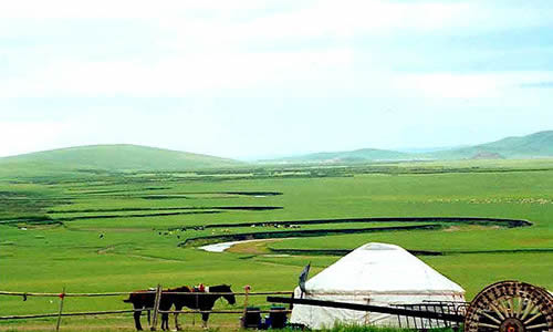 走进内蒙古的希拉穆仁大草原,迎面就扑来一股清新的空气.