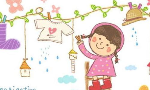 幼儿帮妈妈一起洗衣服简笔画