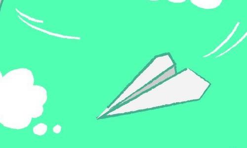 星期五,我和好朋友一起折纸飞机比赛.