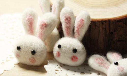 橡皮泥手工制作动物小兔