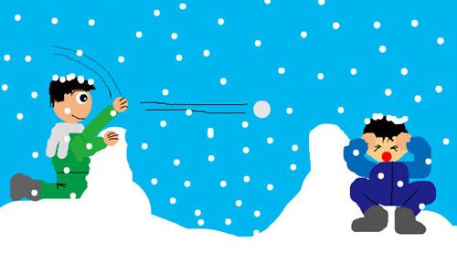 在学校打雪仗的作文