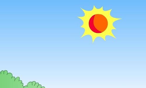 太阳海水矢量图