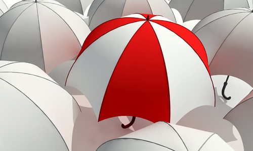 矢量图 爸爸雨伞