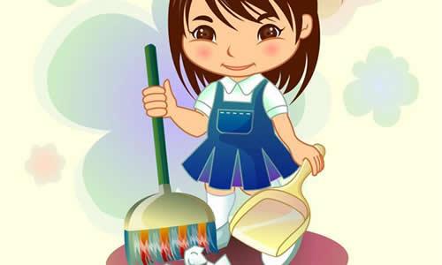 四年级作文做家务扫地