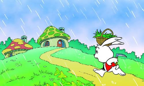 下雨冷的可爱图片