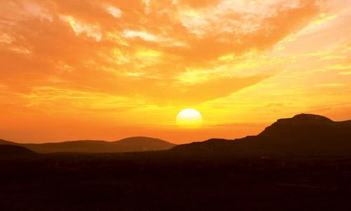 风景色彩夕阳临摹