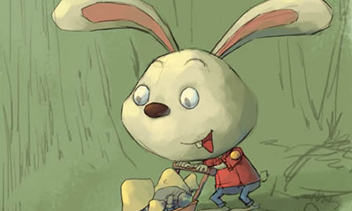 小兔子采蘑菇作文100字