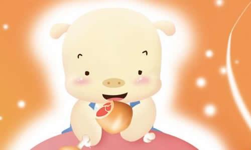 第二天早上,小猪的嘴巴肿得大大的,眼睛哭得红红的,甭提有多难看啦!