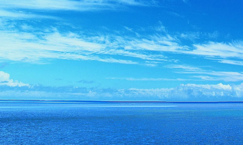 风景头像 一人 大海