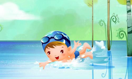 小学生暑假游泳作文素材