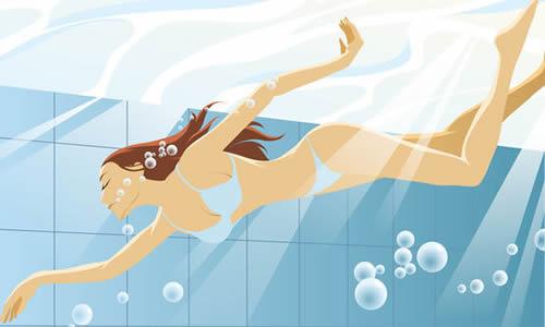 学游泳二年级作文150字