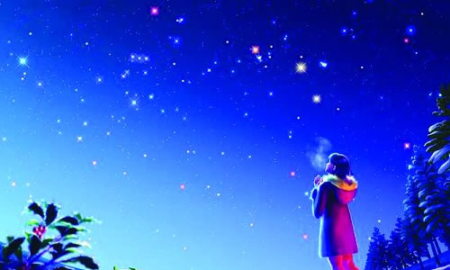 动漫风景夜空头像