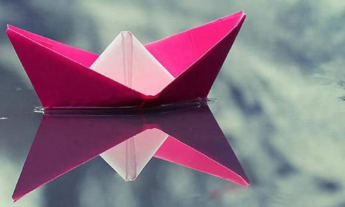 手工纸船的步骤