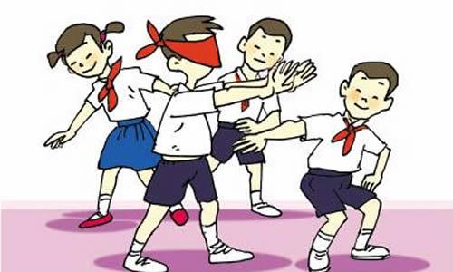 校园操场卡通背景素材