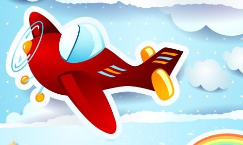 飞机路途矢量图