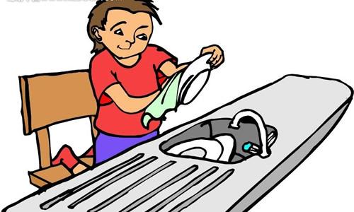 洗碗简笔画步骤