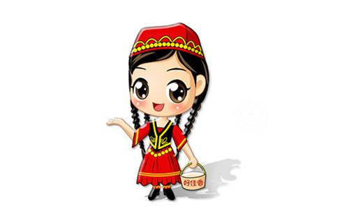 新疆小朋友简笔画
