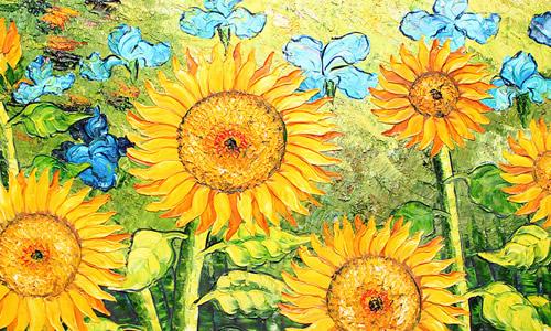 1像向日葵一样生活 夏日,最美丽的风景线就是那一片片金灿灿的向日葵