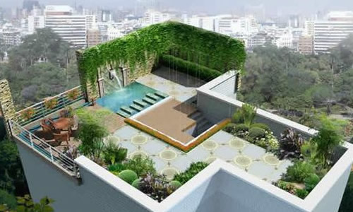 屋顶花园作文