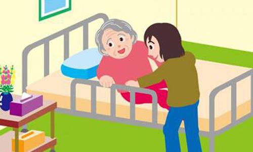奶奶坐着的简笔画