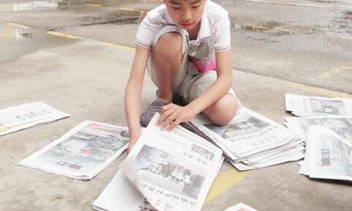 高中交际纸情景高中英语卖报作文图片