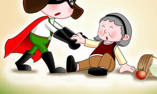 欧美老奶奶以一敌二_扶老老奶奶回家作文