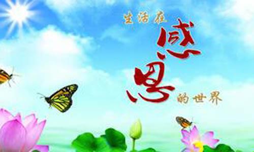 感恩,就仿佛是一缕温暖的阳光,是一口甘甜的泉水,是一只斑斓的彩蝶,是
