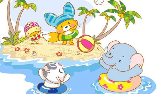 四年级作文去海边游泳