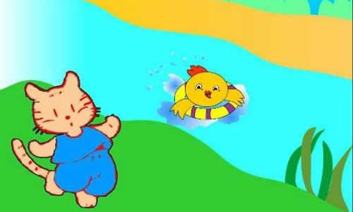 """""""小可爱为难地说:""""可是我不会游泳呀!"""
